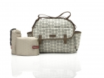 Babymel Wickeltasche Molly Grey Floral Dot BM9205