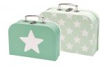 Kids Concept 2er Set Koffer STAR in Mint 310583