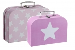 Kids Concept 2er Set Koffer STAR in Rosa 310629