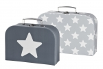 Kids Concept 2er Set Koffer STAR in Grau 310852